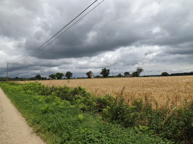 Fields off the entrance to Thorpe Parva Hall