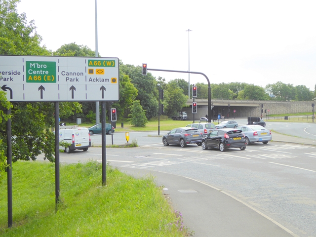 Roundabout on the A1032