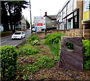 SO6303 : Sculpture outside Lydney Library by Jaggery