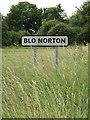 TM0280 : Blo Norton Village Name sign on Blo' Norton Road by Adrian Cable