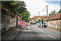 TF7043 : Roadworks on Main road, Holme next the Sea by J.Hannan-Briggs