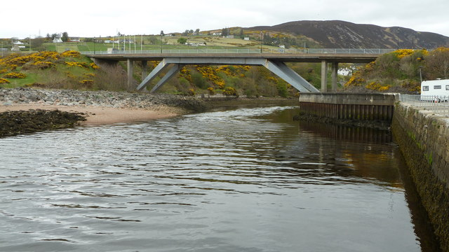 River Helmsdale emerging from under the A9