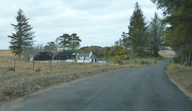 Forsinard Lodge kennels by the A897
