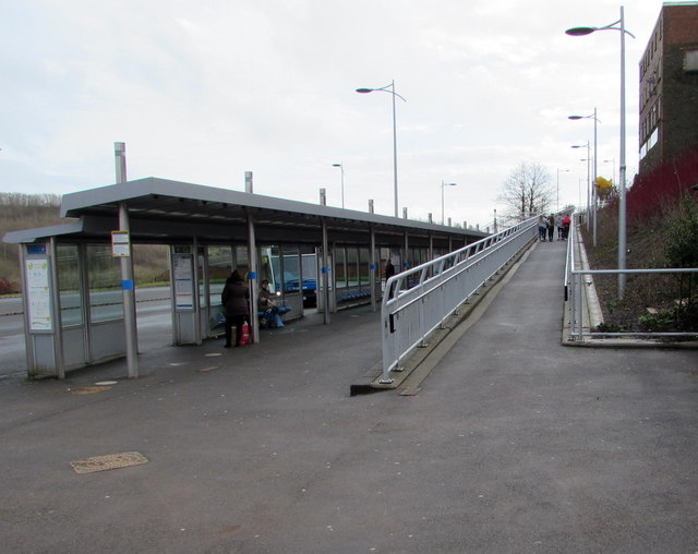 Ramp up from Bargoed bus station