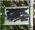 SJ8990 : Lamppost artwork: Day trippers defiled. by Gerald England