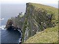 HT9440 : Cliffs of da Nort Bank, Foula by Julian Paren