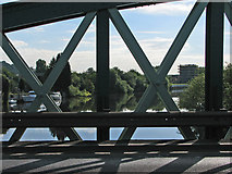 SK5838 : Crossing the Trent at Lady Bay Bridge by John Sutton