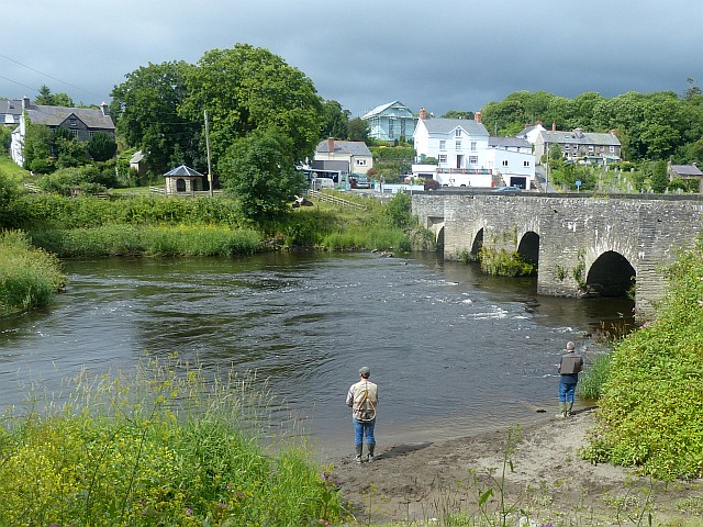 Anglers by the River Teifi, Llechryd