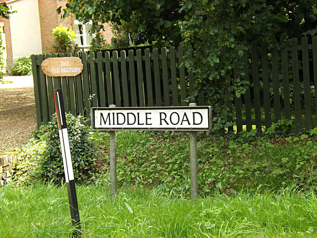 Middle Road & The Old Rectory signs