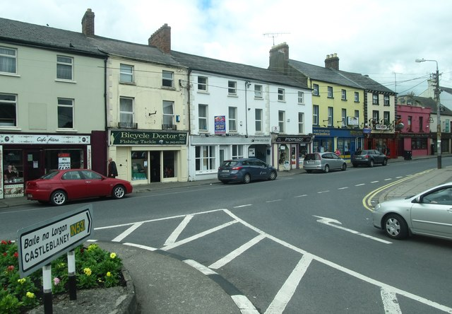 A parade of shops on Bridge Street, Dundalk