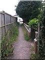 SZ0695 : West Howe: arriving on Verney Close on footpath U22 by Chris Downer
