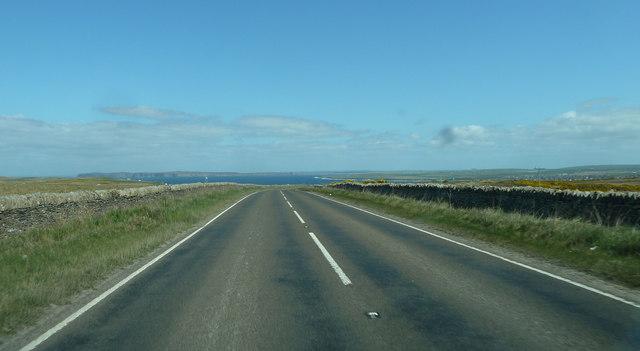 A836 heading for Thurso