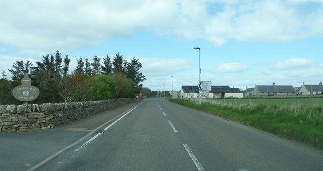 A836 passing through Dunnet