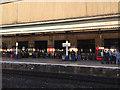 SX9193 : Refreshment Room, Snack Bar & Dining Room, platform 1, Exeter St Davids station by Robin Stott