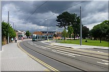 SK5236 : Tram turning onto Chilwell Road by David Lally