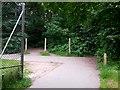SZ0794 : Ensbury Park: footpaths N16, N36 and N37 meet by Chris Downer