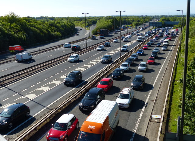 Heavy traffic on the Edinburgh City Bypass