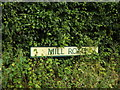 TM0178 : Mill Road sign by Adrian Cable