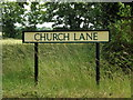 TM0178 : Church Lane sign by Adrian Cable