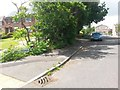 SZ0695 : West Howe: Mayfair Gardens and footpath E10 by Chris Downer