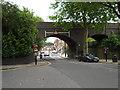 TQ3195 : Railway bridge, Grange Park by Paul Bryan