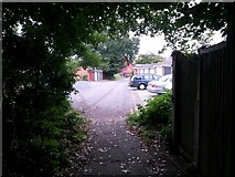 SZ0995 : Redhill: footpath O23 arrives on Portswood Drive by Chris Downer