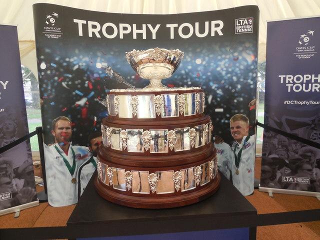 Davis Cup Trophy Tour. Worthing
