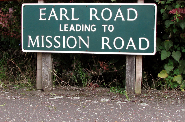 Earl Road (road sign)