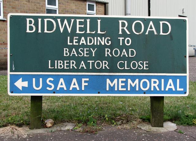Bidwell Road (road sign)