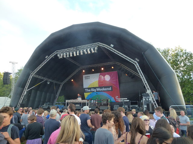Stage and crowd - The Big Weekend, Cambridge 2016