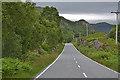 NM6774 : The A861 descending towards Loch Moidart by Nigel Brown