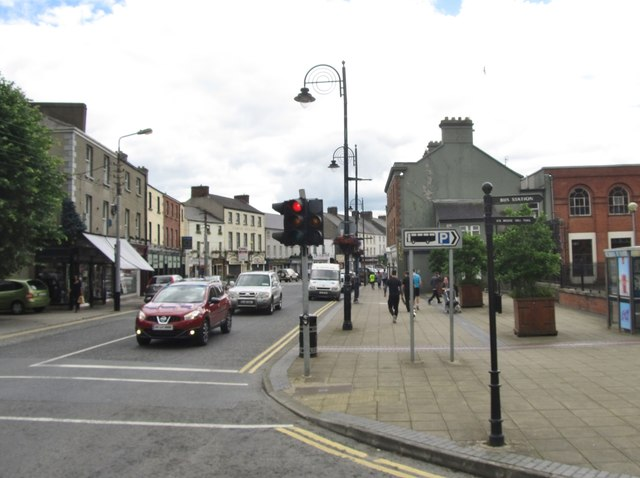 Traffic lights at the Church Street/The Laurels junction, Dundalk