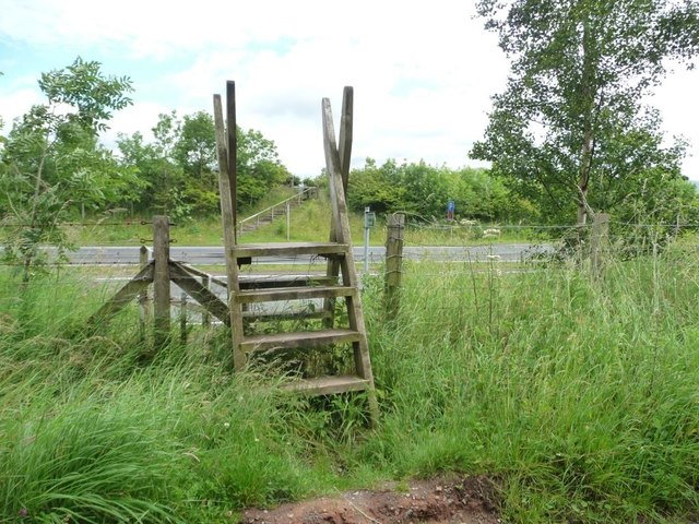 Footpath crossing the A66 [Appleby by-pass]