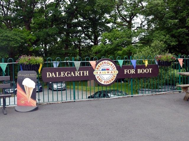 Dalegarth Station platform sign