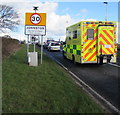 SM9209 : Ambulance enters Johnston by Jaggery