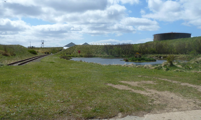 Pond by the Scapa Flow Museum