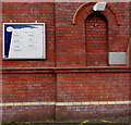 ST3089 : Information board and Memorial Stone, Malpas Road Evangelical Church, Newport by Jaggery
