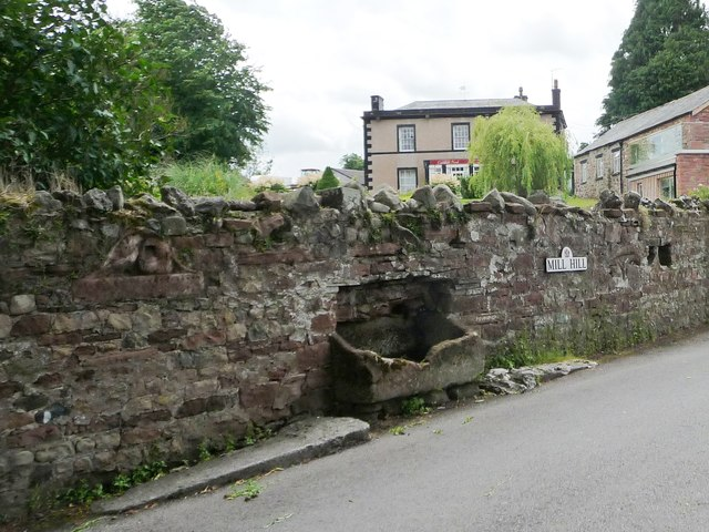 Broken water trough, Mill Hill, Appleby