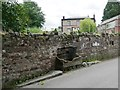 NY6819 : Broken water trough, Mill Hill, Appleby by Christine Johnstone