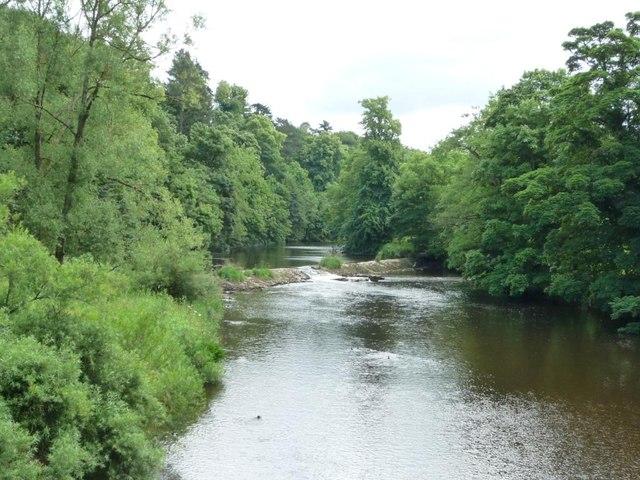 Weir on the River Eden