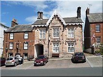 NY6820 : Buildings on the east side of Boroughgate, Appleby by Christine Johnstone