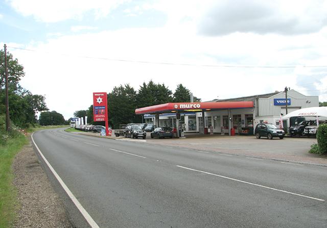 Petrol station and Volvo car dealership