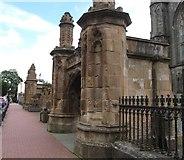 J0407 : Main gate to St Patrick's Church, Dundalk by Eric Jones