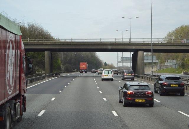 J8 overbridge, M25