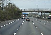 TQ1956 : Pebble Lane Bridge, M25 by N Chadwick