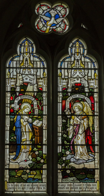 Stained glass window, St Mary's church, Burnham Deepdale