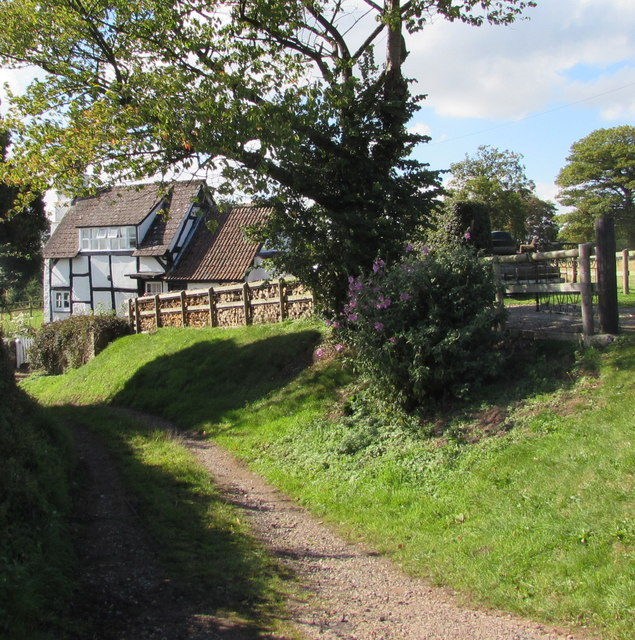 Black and white cottage, Brockhampton