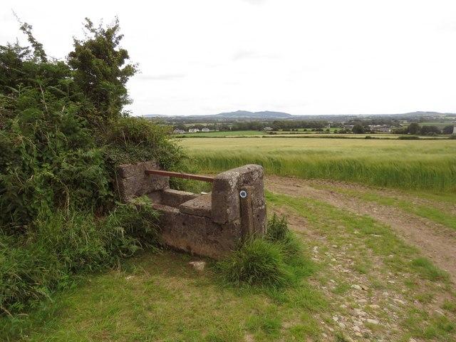 A water trough on Lacken Hill