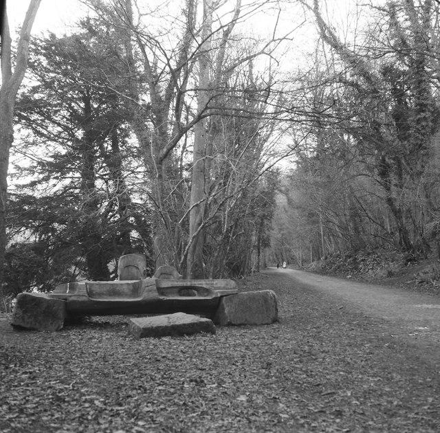Memorial bench at Biblins