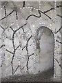 TL3513 : Scott's Grotto, Scott's Road, SG12 - detail by Mike Quinn